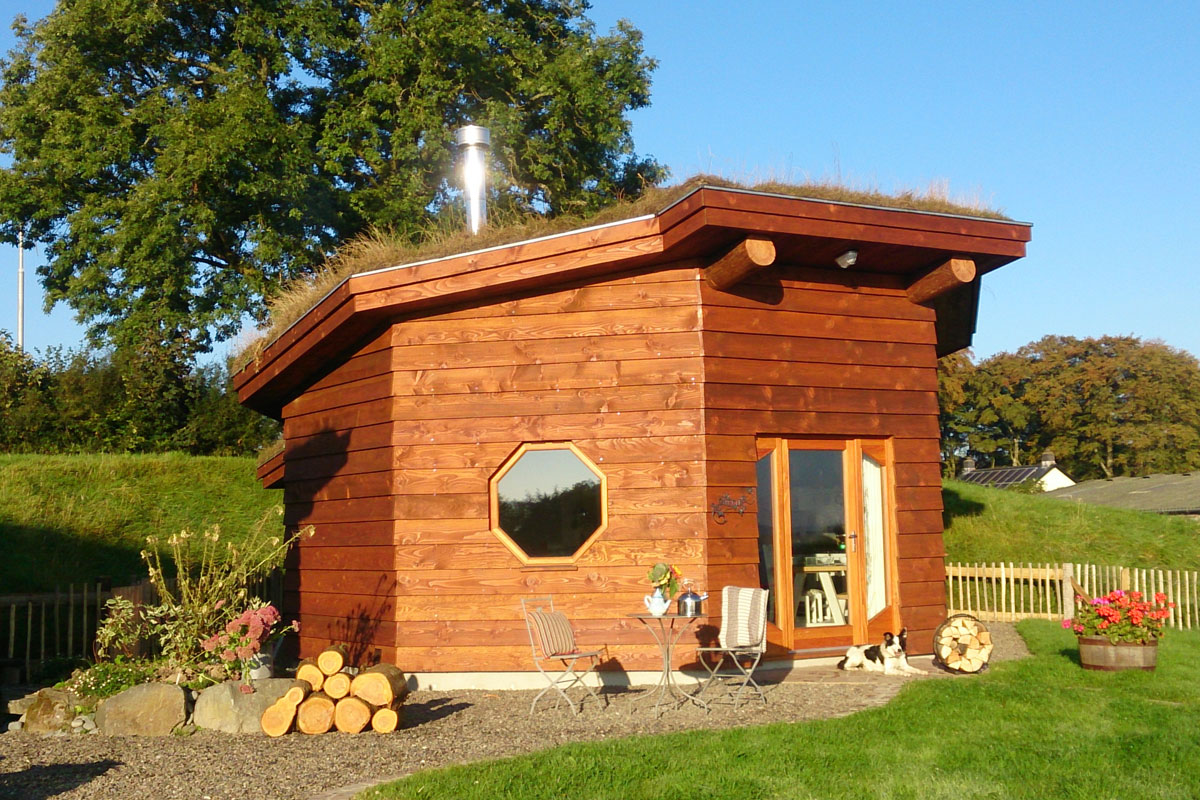Glamping in eco cabins in west wales treberfedd farm for Eco cabin designs