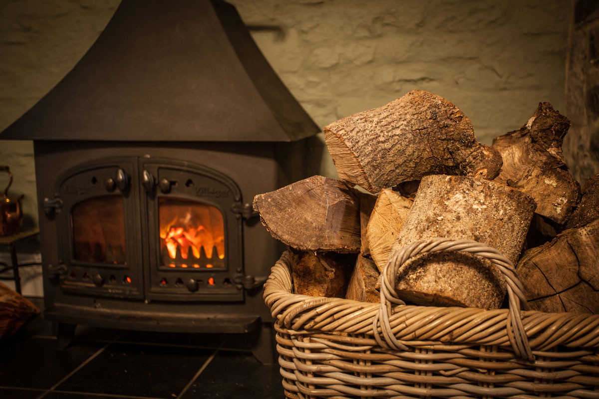 Thatched Cottage fireplace
